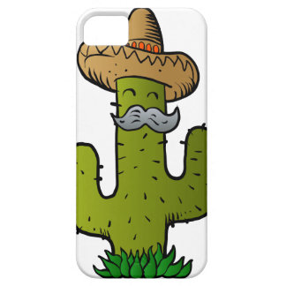 mexican cactus with mustache iPhone 5 cover