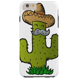 mexican cactus with mustache tough iPhone 6 plus case