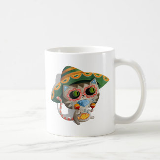 Mexican Cat with Sombrero Coffee Mug