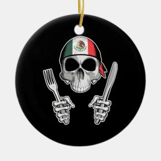 Mexican Chef 4 Round Ceramic Ornament