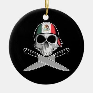 Mexican Chef Round Ceramic Ornament