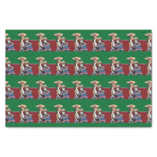 Mexican Chihuahua Dogs tissue paper