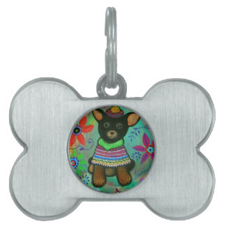 Mexican Chihuahua Pet Lover Black Pet Tag