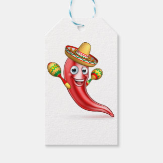 Mexican Chilli Pepper with Maracas and Sombrero Gift Tags