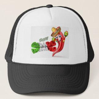 Mexican Cinco De Mayo Chilli Pepper Design Trucker Hat