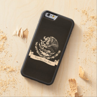 Mexican coat of arms carved maple iPhone 6 bumper case