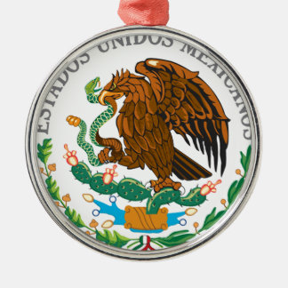 Mexican Coat of Arms Silver-Colored Round Ornament