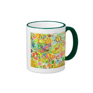 mexican colours ringer mug
