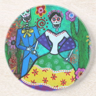 MEXICAN COUPLE DANCING BEVERAGE COASTERS