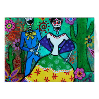 MEXICAN COUPLE DANCING CARD