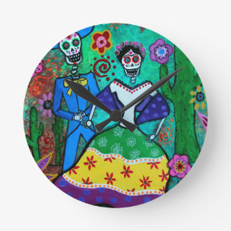 MEXICAN COUPLE DANCING CLOCKS