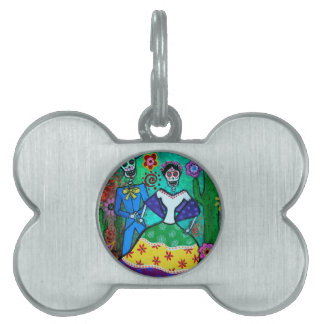 MEXICAN COUPLE DANCING PET ID TAG