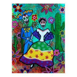 MEXICAN COUPLE DANCING POSTCARD