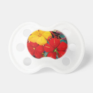 Mexican Crepe Flowers Baby Pacifier