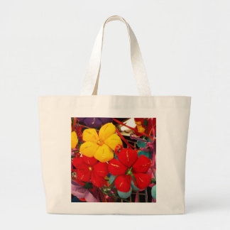 Mexican Crepe Flowers Large Tote Bag