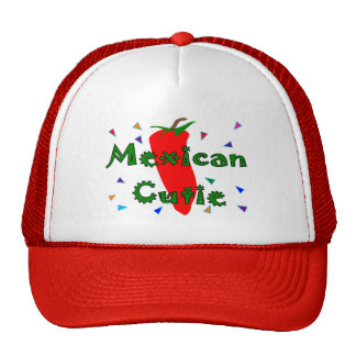 Mexican Cutie Red Chilli Pepper T-Shirts & Gifts Mesh Hats