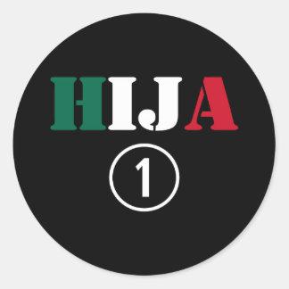Mexican Daughters : Hija Numero Uno Round Stickers