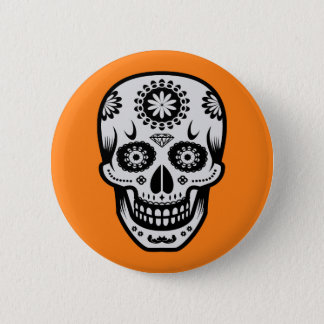 Mexican Day of the Dead Sugar Skull 2 Inch Round Button