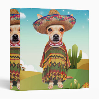 Mexican dog ,chihuahua 3 ring binders