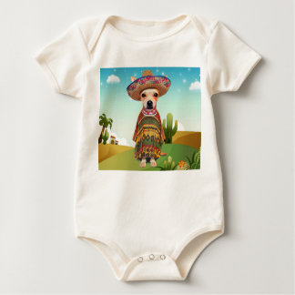 Mexican dog ,chihuahua baby bodysuit