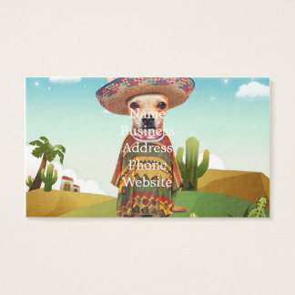 Mexican dog ,chihuahua business card