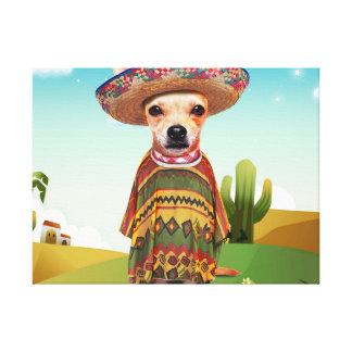Mexican dog ,chihuahua canvas print