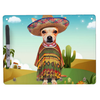 Mexican dog ,chihuahua dry erase board with keychain holder
