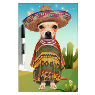 Mexican dog ,chihuahua dry erase whiteboards