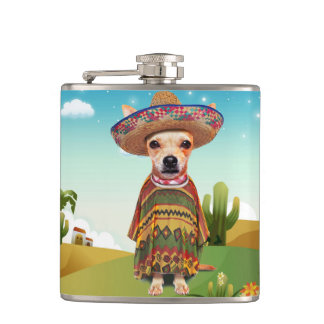 Mexican dog ,chihuahua hip flask