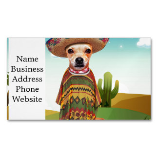 Mexican dog ,chihuahua 	Magnetic business card
