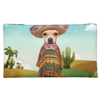 Mexican dog ,chihuahua makeup bag