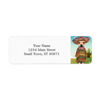 Mexican dog ,chihuahua return address label