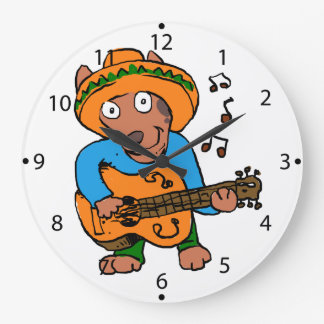 Mexican dog large clock