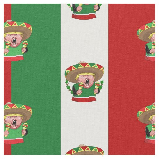 mexican donald trump fabric