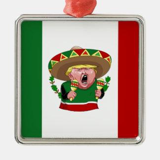 mexican donald trump metal ornament