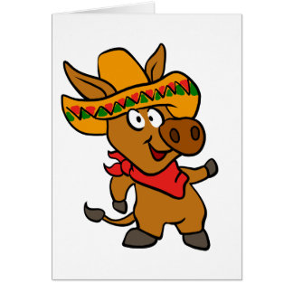 Mexican donkey card
