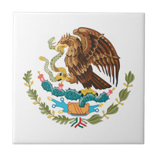 Mexican Eagle And Snake Tile