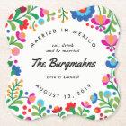 Mexican Embroidery Colourful Custom Bar Coaster
