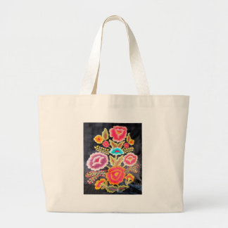Mexican Embroidery design Jumbo Tote Bag