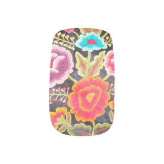 Mexican Embroidery design Minx Nail Art