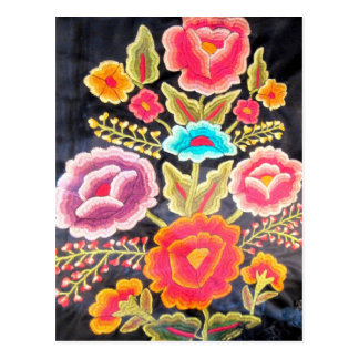 Mexican Embroidery design Postcard