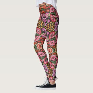 Mexican Embroidery LEGGINGS Women's Yoga Pants
