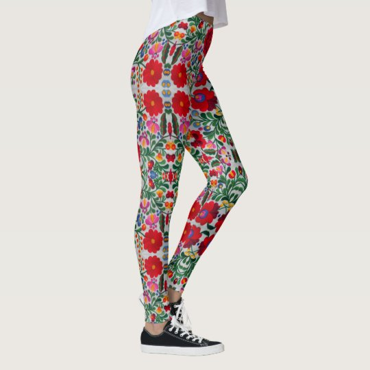 Mexican Embroidery Womens Leggings Yoga Pants
