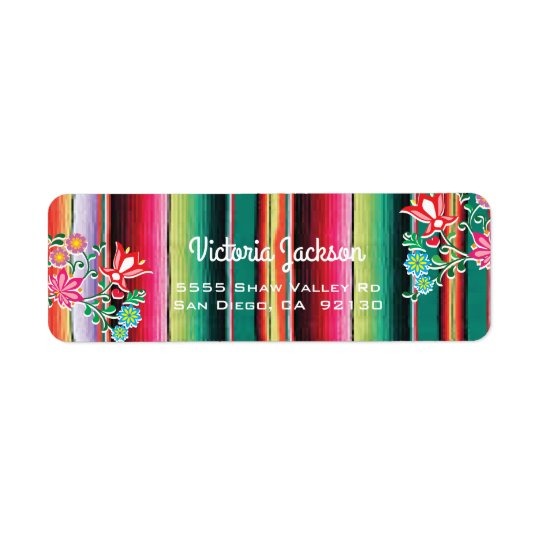 Mexican Fiesta  address label