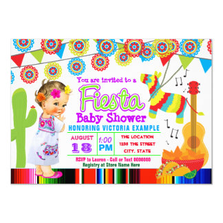Mexican Fiesta Baby Shower Invitations
