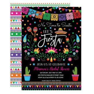 Mexican Fiesta Cinco De Mayo Bridal Shower Invite