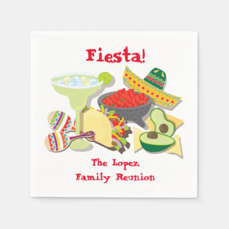 Mexican Fiesta cocktail or luncheon napkins Disposable Napkins