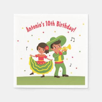 Mexican Fiesta Hispanic Kids Birthday Party Napkin Paper Napkins