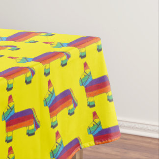 Mexican Fiesta Rainbow Cinco de Mayo Piñata Party Tablecloth
