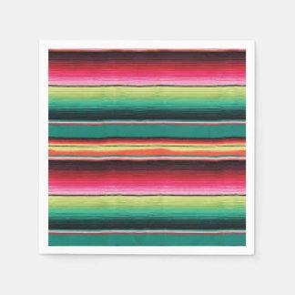 Mexican Fiesta serape print rug Napkins Paper Napkin